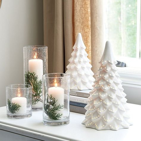 We designed these classic hurricanes to showcase our Essential Candles (sold separately). Essential Hurricane features:Doubles as a vaseWatertight After Christmas, Christmas Love, Christmas Crafts, Christmas Jars, Christmas Tables, Reindeer Christmas, Elegant Christmas, Scandinavian Christmas, Pink Christmas Decorations