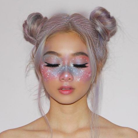 halloween makeup 40 Fairy Fantasy Makeup for Halloween Party Ideas 10 halloween makeup 40 Fairy Fantasy Makeup for Halloween Party Ideas 10 Cute Makeup Looks, Makeup Eye Looks, Pretty Makeup, Face Makeup Art, Cool Makeup, Makeup Trends, Makeup Ideas, Two Buns Hairstyle, Kids Hairstyle