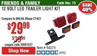 12 Volt Led Trailer Light Kit Led Trailer Lights Led Trailer Kits