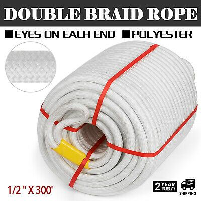 Advertisement Ebay 1 2 X 300 Double Braid Polyster Rope Dock Line Anchor Line High Strength In 2020 Rope Pulls Double Braid Climbing Rope