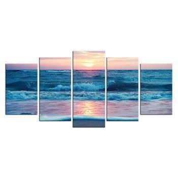 12 Pemandangan Alam Termasuk Karya Seni 5 Panel Wall Art Laut Pemandangan Laut Karya Seni Indah Matahari Terbenam Di Pantai Gam Di 2020 Pemandangan Sejarah Seni Seni