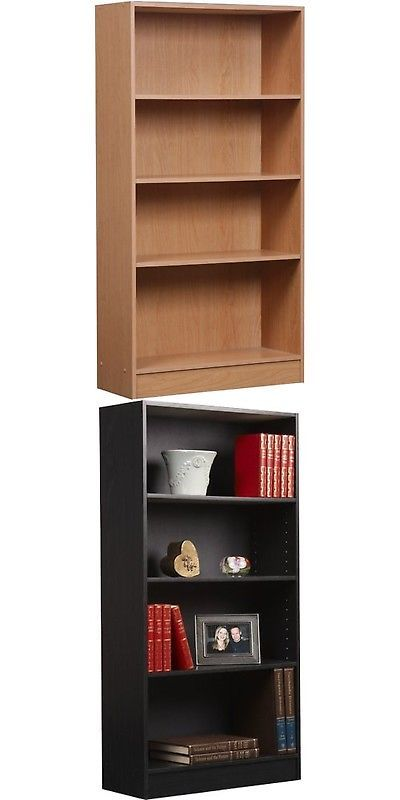 Bookcases 3199 Orion 47 4 Shelf Bookcase Multiple Finishes Brown Buy It Now Only 43 25 On Ebay Bookcases O 4 Shelf Bookcase Shelves Bookshelf Storage