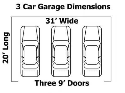 Standard Garage Dimensions 1 2 3 4 Car Garage Sizes Garage Dimensions Car Garage Garage Door Width