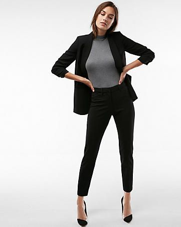 Womens Black Pantsuits