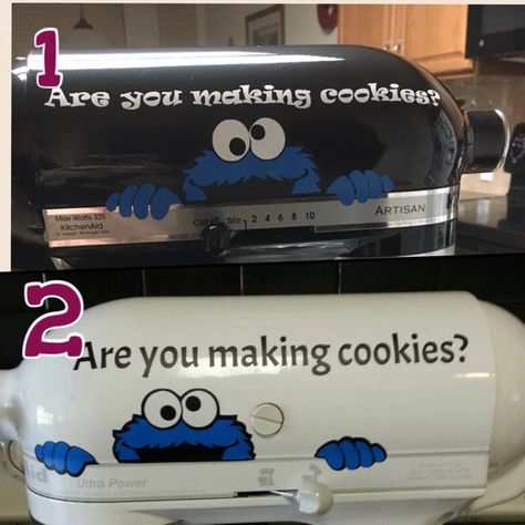 Kitchen aid mixer Cookie Monster inspired by HometownXpressions