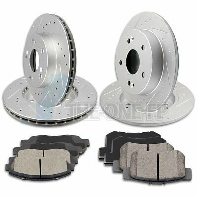 Front Drill Slot Brake Rotors /& Ceramic Pads For 2008 2009 2010 2011 Ford Focus