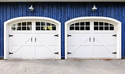 Standard Garage Dimensions For 1 2 3 And 4 Car Garages Diagrams Garage Door Styles Carriage Style Garage Doors Double Garage Door