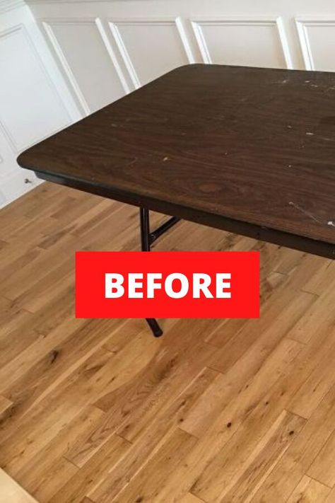 Update your dining table on a budget with these quick and easy table makeover ideas. If you have an old thrift store dining table to upgrade or a round table that you want to make over check out these farmhouse before and after table upcycles. #hometalk