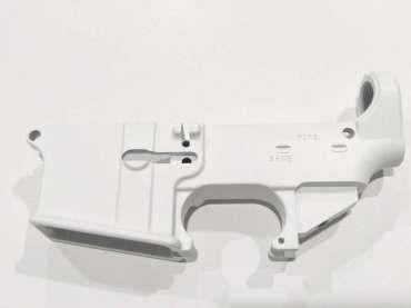 80% Lower - Cerakote Coated (White) | AR 10 | Lower receiver