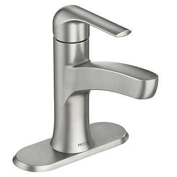 Moen Tilson Single Handle Bathroom Faucet In Brushed Nickel In