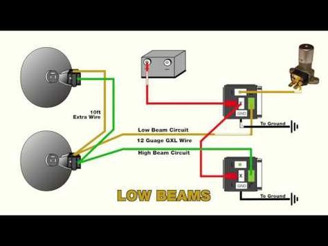 How To Wire Headlight Relays Youtube Headlights Car Headlights Automotive Electrical