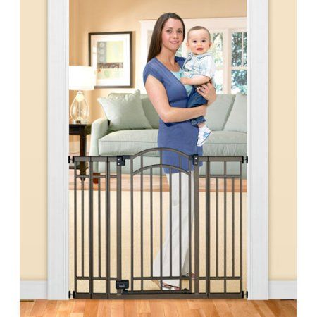 Home Safe Extra Tall Walk Through Decorative Baby Gate 28 48 Contemporarydecor Baby Gates Best Baby Gates Baby Safety Gate