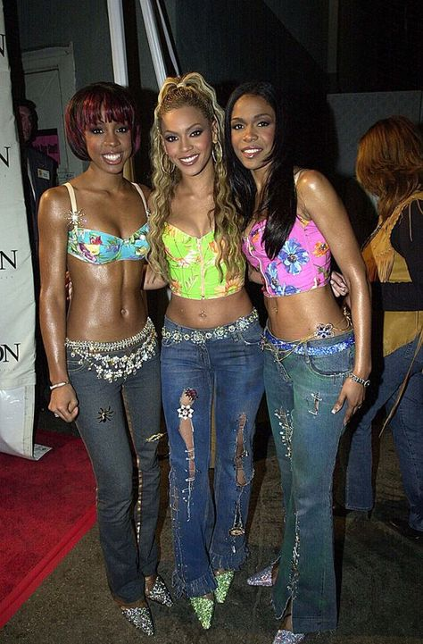 Remember these iconic Destiny's Child outfits? Early Destiny's Child, ultra low-rise jeans