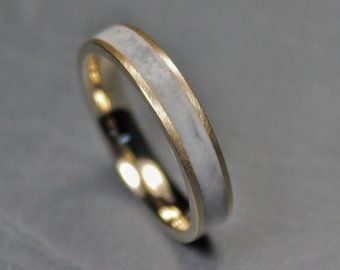 Natural Stone Wedding Band 9ct Gold And Marble Inlay Ring Etsy Marble Jewelry Gold Rings For Men