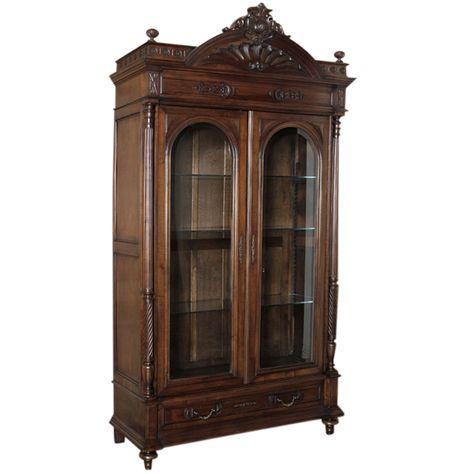 Antique French Oak Armoire Mirrored Henri Ii Style Tt063 Ebay