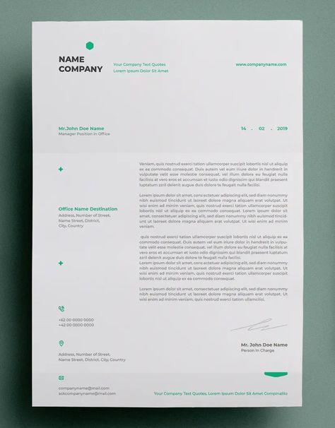 Multipurpose Letterhead Design PSD, AI, Vector EPS