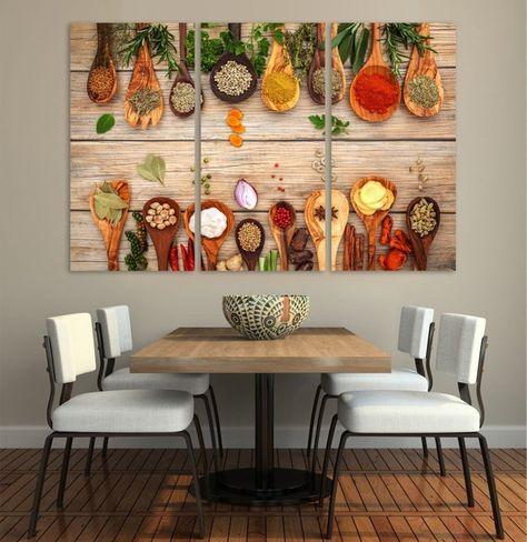 Restaurant Decor Kitchen Dining Room Decor Extra Large Wall Art