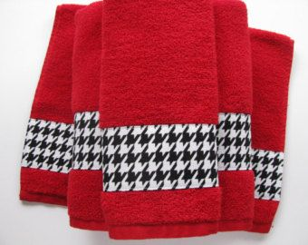 Red And Black Damask Bath Towels Bathroom Towels Bath Towel Red