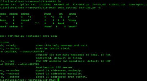 SIP-DAS (DoS Attack Simulator) is a tool developed to simulate SIP
