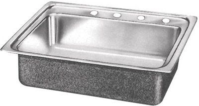 Elkay LRAD2219400 Lustertone ADA Compliant Bowl Single Basin Kitchen Sink