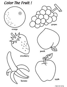 A Simple Fruit Coloring Worksheet For Young Learners Coloring Worksheets For Kindergarten Preschool Coloring Pages Color Worksheets