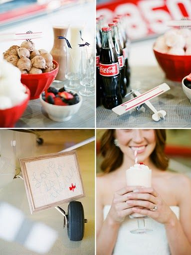 Love is the in the air. with a girl drinking a milkshake