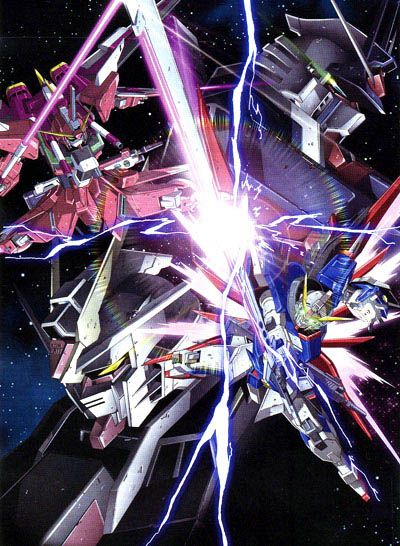 Infinite Justice Gundam Vs Destiny Gundam Gundam Seed Gundam Gundam Wallpapers