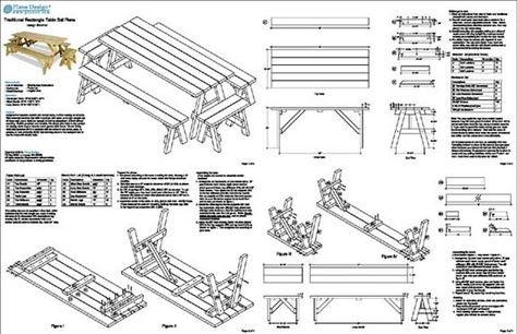 Plans Building A Picnic Table With Separate Benches