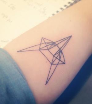 Tattoo Geometrique Sur Le Bras Une Tete De Renard Tatouages