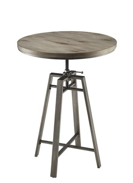 Terrific Coaster Furniture Nutmeg Slate Grey Wood Metal Bar Table Andrewgaddart Wooden Chair Designs For Living Room Andrewgaddartcom