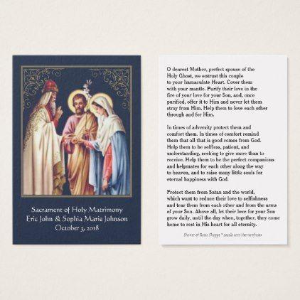 A Catholic Wedding Prayer Favor Holy Card Engagement Gifts Ideas