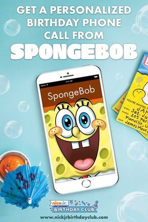 Happy Birthday Call From Spongebob : happy, birthday, spongebob, Planning, SpongeBob, Squarepants, Birthday, Party, Schedule, Personalized, Phone, Fr…, Spongebob, Party,