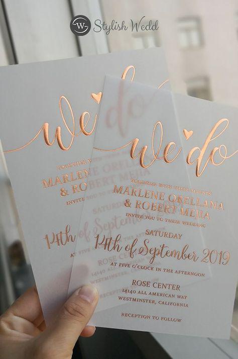 luxury modern custom foil vellum wedding invitations #wedding #weddinginvitations#stylishwedd #stylishweddinvitations #vellumweddinginvitations