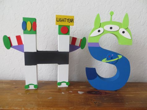 LIMITED EDITION Toy Story Block Letter Art by TheLetterBug on Etsy