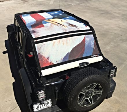 Jeeptopsusa Our Custom Eagle Shader For The 2007 2015 Jeep