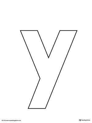 letter y template printable  Say and Trace: Letter Y Beginning Sound Words Worksheet ...