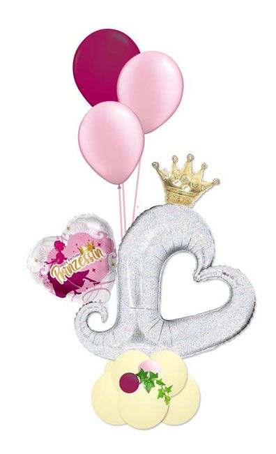 Ballon Luftballon Heliumballon Bouquet Prinzessin Mops Krone Herz