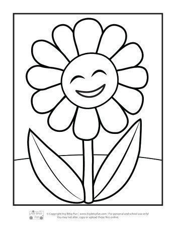 Flower Coloring Pages For Kids Itsybitsyfun Com In 2020 Flower Coloring Pages Printables Free Kids Coloring Coloring Pictures For Kids
