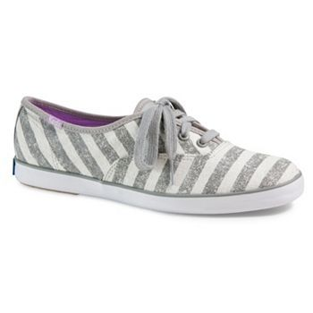 keds grey striped tennis shoes | Keds Champion Washed Stripe Oxford Shoes - Women