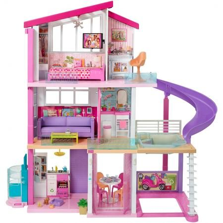 New Barbie Dreamhouse Playset With 70 Accessory Pieces Walmart