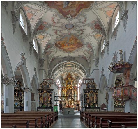 Laufenburg Schweiz u2013 Stadtkirche St Johannes der Täufer von - fliesen für küchenwand