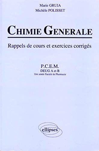 Telecharger Pdf Chimie Generale Rappels De Cours Et Exercices Corriges P C E M