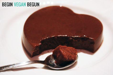 Flan de chocolate #vegan