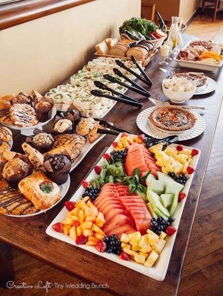 Wedding Food Menu Baby Shower 70 Ideas For 2019 In 2020 Brunch Brunch Buffet Brunch Party
