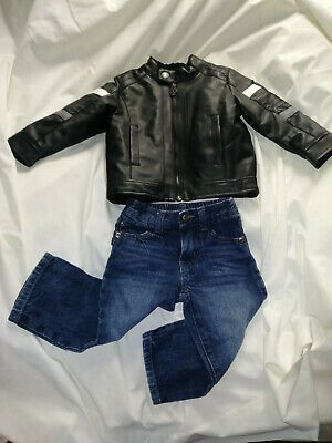 Ebay Sponsored 12 Month Biker Baby Amy Coe Leather Look Coat And Jeans Benefits Youth Art Fund In 2020 Biker Baby Toddler Outfits Jean Coat