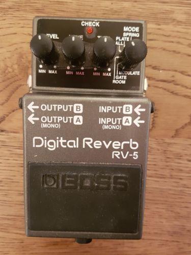 Boss Rv 5 Digital Reverb Stereo Guitar Effects Pedal Used Effects Pedals Guitar Effects Pedals Guitar Effects