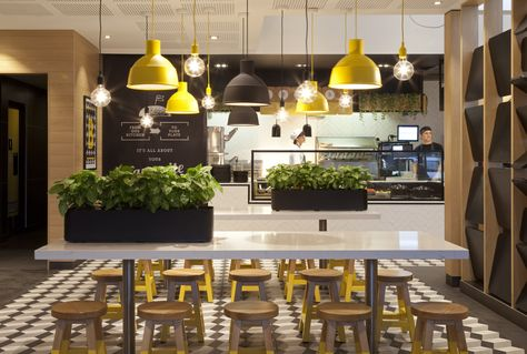The new-look McDonalds restaurant at Thornleigh, NSW is the first of its kind in Australia and embodies the new customer relation strategy of the world's largest fast food chain.