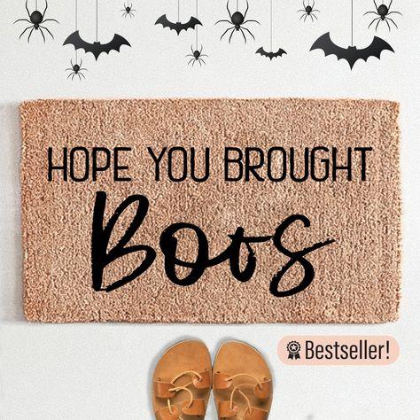 Hope You Brought Boos Halloween Doormat - 18X30 inch