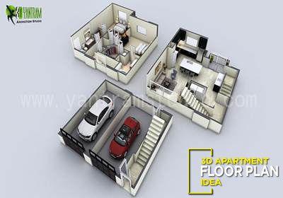 3d Apartment Floor Plan Ideas By Yantram 3d Floor Design Los Angeles United States Floor Plan Design Small House 3d Floor Plan Apartment Floor Plan