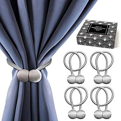 Amazon Com Merriton Premium Magnetic Curtain Tiebacks Set The